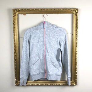 IVIVVA | Zip Up Hooded Sweatshirt Gray Girl's 14